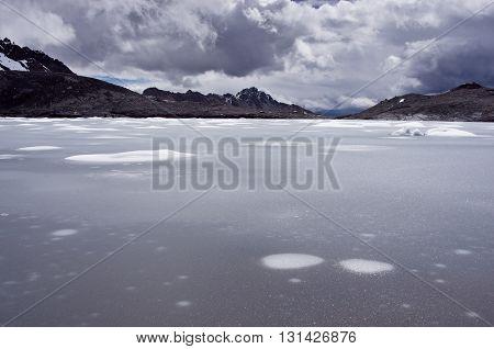 Pastoruri Glacier In Cordillera Blanca. Northern Peru