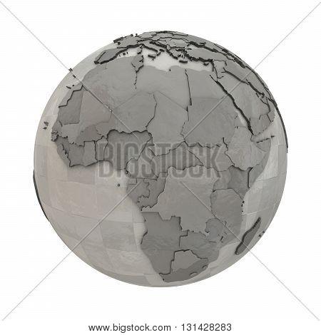 Africa On Metallic Planet Earth