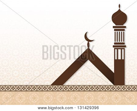 Islamic Arabian style traditional vector background design