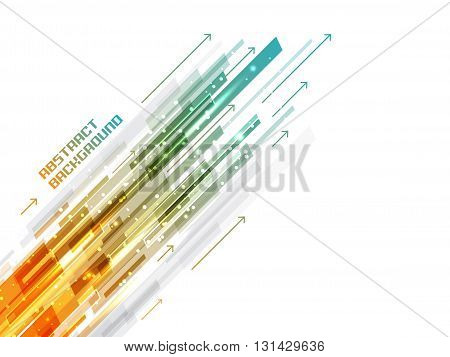 Abstract Shiny Straight Lines Vector Background.