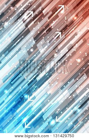 Abstract Shiny Straight Lines Vector Background With Glitter And Arrows.
