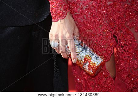 CANNES, FRANCE - MAY 21:  Fashionable items attends the 'Elle' Premiere during the 69th annual Cannes Film Festival at the Palais des Festivals on May 21, 2016 in Cannes, France.