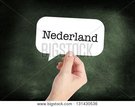 Nederland written on a speechbubble