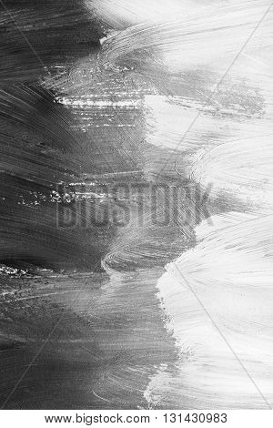Abstract black and white painting as a background