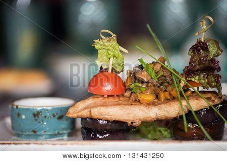 barbequed pork chops