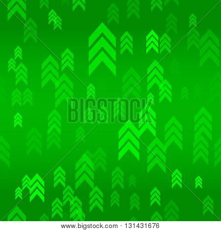 Up Green Arrow Seamless Pattern Background Vector Illustration
