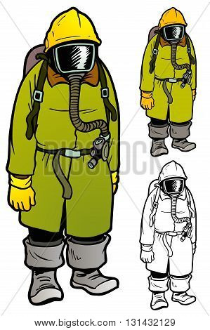 WWI style anti chemical warfare gear with variations