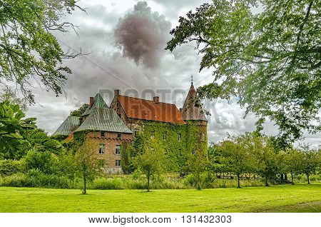 Ortofta slott is a castle in Eslov Municipality Scania in southern Sweden.