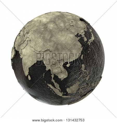 Southeast Asia On Earth Of Oil