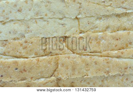 close up details of stack layers of whole wheat textures surface