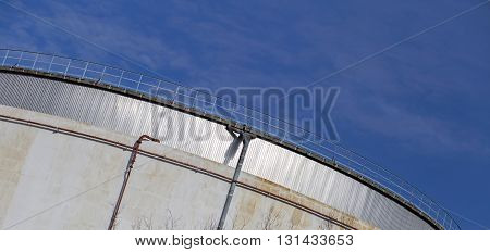 Details of an industrial power plant building - website banner with copy space
