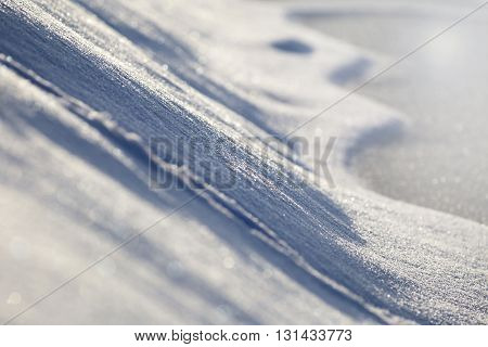 Details of glittering snow in Winter - background