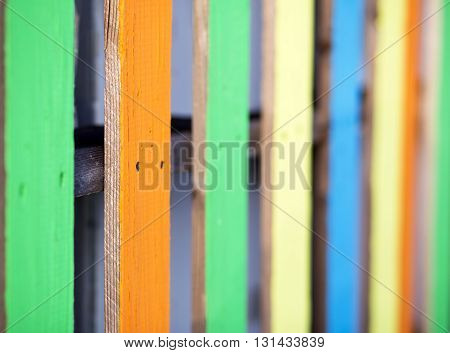 Colorful wooden boards background with copy space