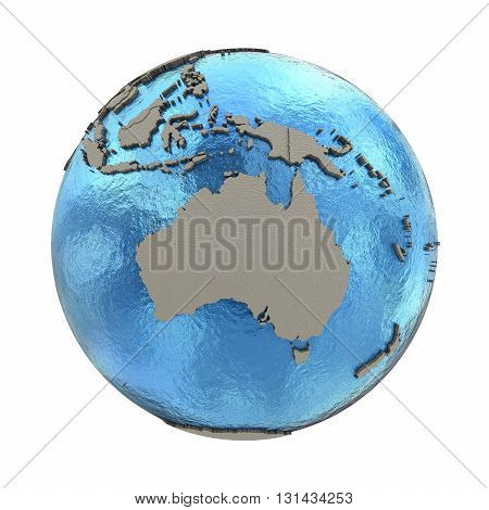 Australia On Model Of Planet Earth
