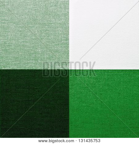 White Green and Black Gingham Tablecloth Pattern Background