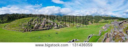 Panorama Of Sacsayhuaman, Inca Ruins In Cusco, Peru