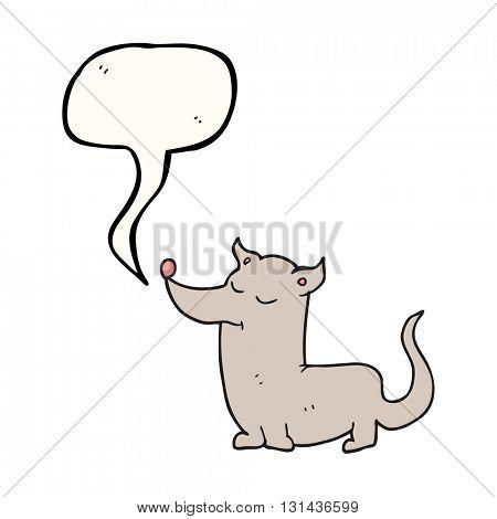 freehand drawn speech bubble cartoon little dog