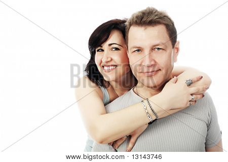 Portrait of a happy married couple.