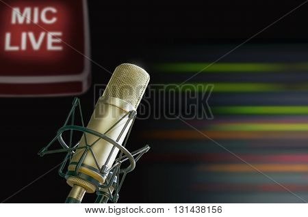 for radio stations and TV microphone live