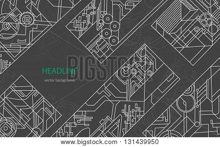 Abstract geometric background. Vector background for printing and paper industry. Linear vector shapes for design, posters, business cards, covers, print, flyers, books and brochures.