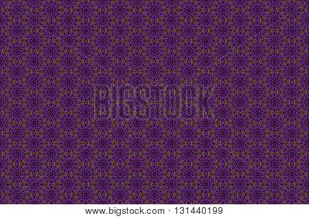 Vector Ornate Seamless Border In Eastern Style On Deep Violet Background. Ornamental Vintage Pattern