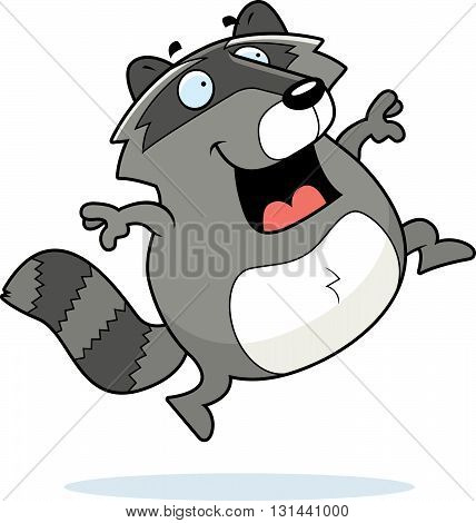 Raccoon Jumping