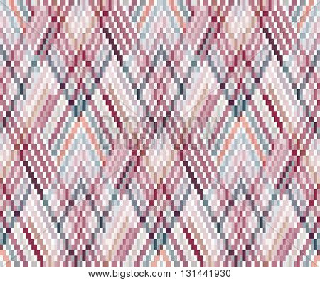 Seamless geometric pattern in the boho style. African motif, abstract. - EPS10
