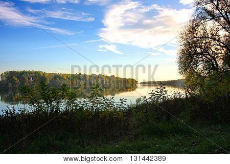 Beautiful nature around Sava river close to Belgrade Serbia