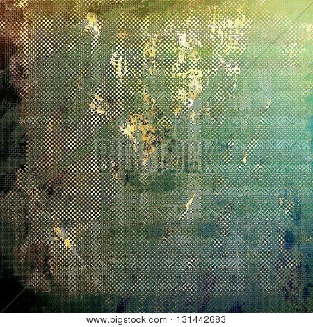 Art vintage texture for background in grunge style. With different color patterns: yellow (beige); brown; green; blue; black; cyan