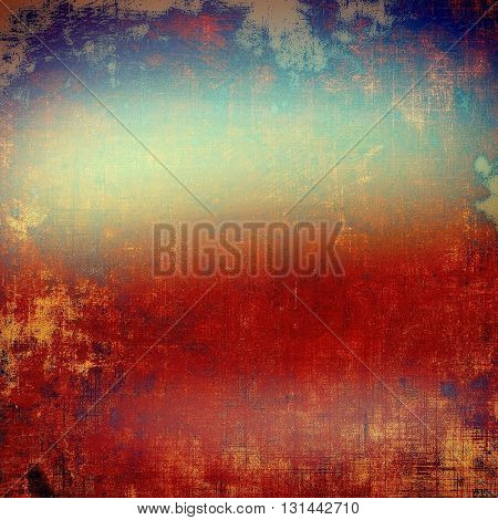 Oldest vintage background in grunge style. Ancient texture with different color patterns: yellow (beige); brown; blue; red (orange); pink