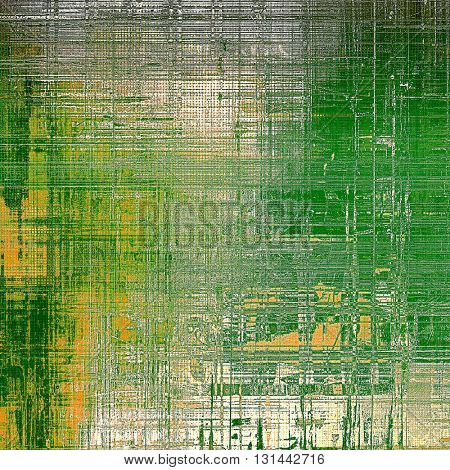 Abstract grunge background or damaged vintage texture. With different color patterns: yellow (beige); brown; gray; green