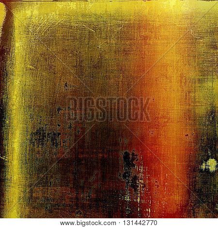 Grunge background for your design, aged shabby texture with different color patterns: yellow (beige); brown; red (orange)