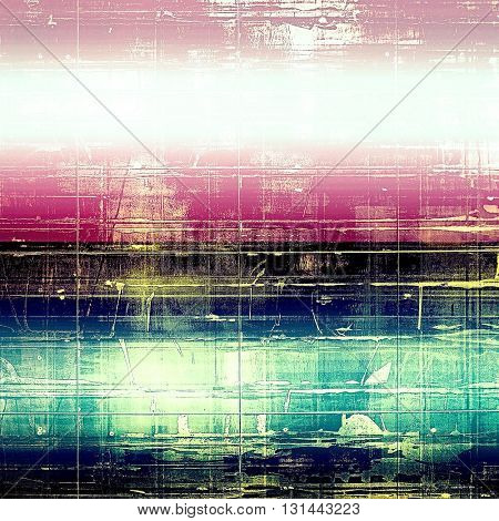 Old background with grunge decorative elements. Retro composition for your design. With different color patterns: blue; purple (violet); pink; white; black
