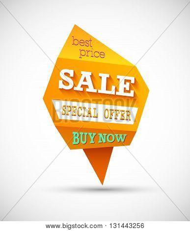 Sale Special Offer Creative Banner. Vector illustration.