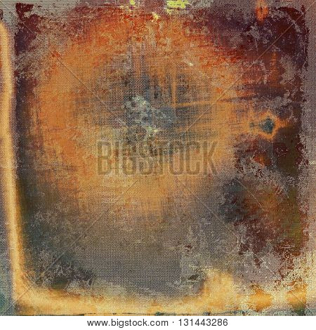 Art grunge background, vintage style textured frame. With different color patterns: yellow (beige); brown; gray; red (orange)