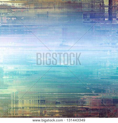 Creative grunge background in vintage style. Faded shabby texture with different color patterns: yellow (beige); brown; gray; blue; white; cyan
