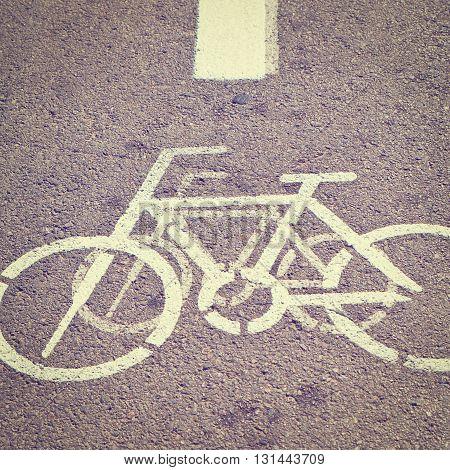 Bicycle Track in Tel Aviv Israel Instagram Effect