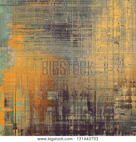Vintage ancient background or texture with grunge decor elements and different color patterns: yellow (beige); brown; gray; green; black