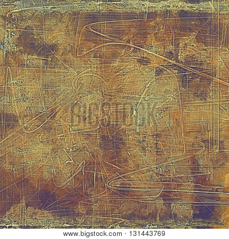Highly detailed scratched texture, aged grungy background. Vintage style composition with different color patterns: yellow (beige); brown; gray; purple (violet)