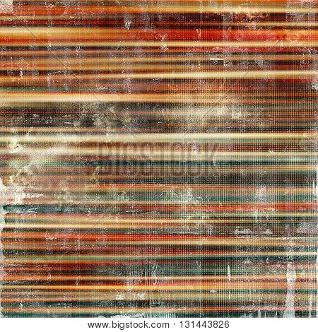 Weathered grunge elements on vintage texture for your design. Aged background with different color patterns: yellow (beige); brown; gray; blue; red (orange)