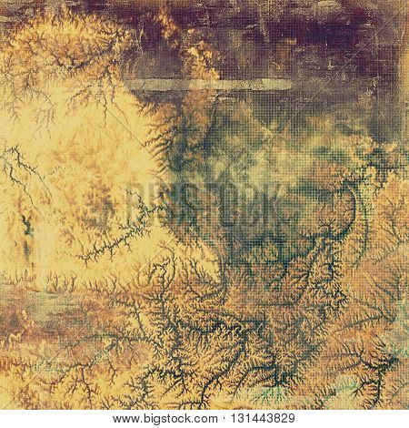 Grunge background or texture with vintage frame design and different color patterns: yellow (beige); brown; gray; green; purple (violet)