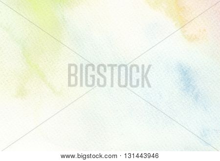 multicolored faded light tones abstract watercolor background