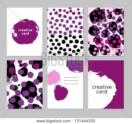Vector artistic creative card template. Ink drawing. Hand drawn design. Placard, poster, leaflet, business card flat illustration. Spring, Summer design.Spring Summer design.