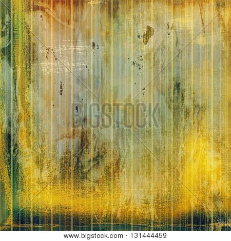 Highly detailed scratched texture, aged grungy background. Vintage style composition with different color patterns: yellow (beige); brown; gray; green; red (orange)