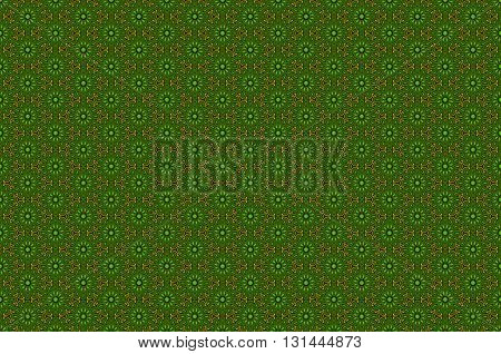 Seamless geometric pattern in retro green colors vector illustration background for your design gold art