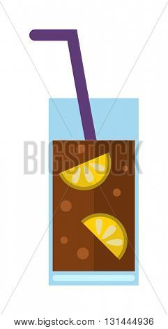 Fresh drink vector illustration.