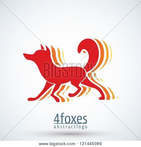 Fox logo template. Color fox logotype design. Idea logotype for corporate identity. Vector illustration.
