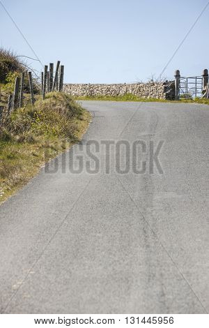 A background image of a typical road in Ireland