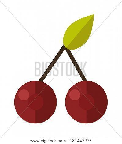 Cherry vector illustration.
