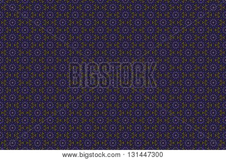 Blue and gold luxury damask seamless motif . Vintage Victorian style pattern.Vector illustration art